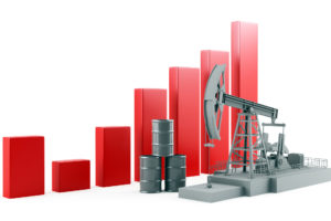 Business Graph with oil pump