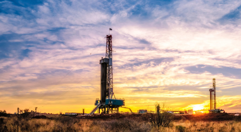 Drilling Rig Sunset Panorama M